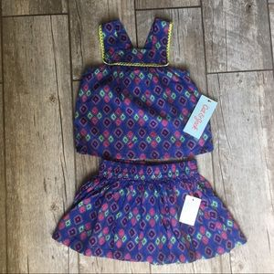 Cat & Jack - NWT Top & Skirt Matching Outfit 12M